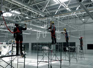 大型生产线结构吊架建设