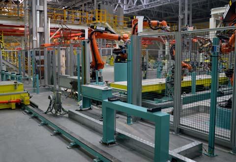 机器人安全防护围栏