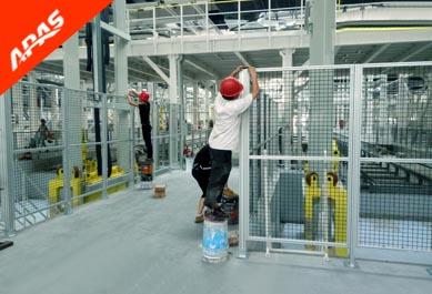 汽车装配线基坑安全围栏项目