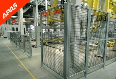 总装车间铝型材基坑围栏项目